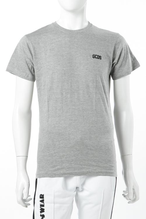 ジーシーディーエス GCDS Tシャツ 半袖 丸首 メンズ FW18U020001 グレー 送料無料 楽ギフ_包装 【ラッキーシール対応】