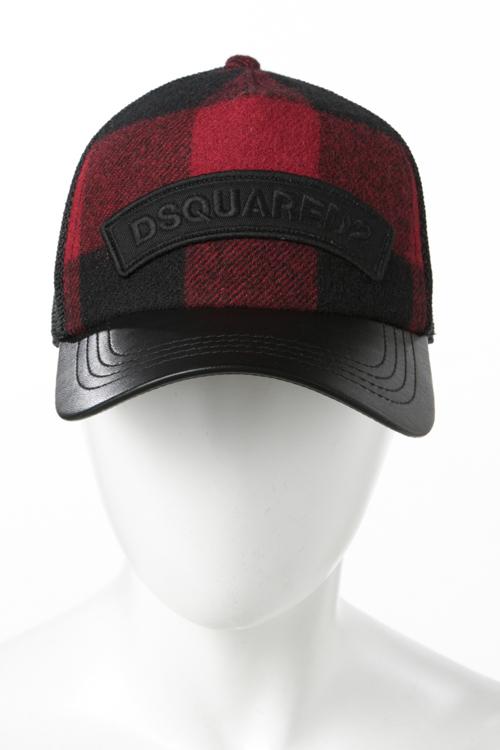 ディースクエアード DSQUARED2 キャップ ベースボールキャップ 帽子 W17BC40121434 ブラック×レッド 送料無料 楽ギフ_包装 2017AW_SALE 【ラッキーシール対応】