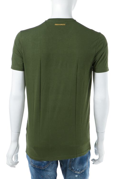 ディースクエアード DSQUARED2 Tシャツアンダーウェア Tシャツ 半袖 丸首 メンズ D9M200770 グリーン 送料無料 楽ギフ_包装 【ラッキーシール対応】