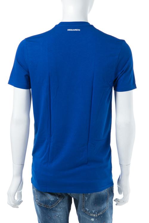 ディースクエアード DSQUARED2 Tシャツアンダーウェア Tシャツ 半袖 丸首 メンズ D9M200900 ブルー 送料無料 楽ギフ_包装 【ラッキーシール対応】