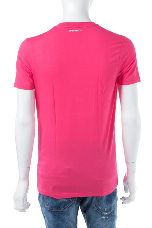 ディースクエアード DSQUARED2 Tシャツアンダーウェア Tシャツ 半袖 Vネック メンズ D9M450900 ピンク 送料無料 楽ギフ_包装 【ラッキーシール対応】