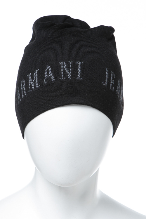 アルマーニジーンズ ARMANIJEANS ニットキャップ ニット帽 934107 7A715 ブラック 送料無料 楽ギフ_包装 【ラッキーシール対応】