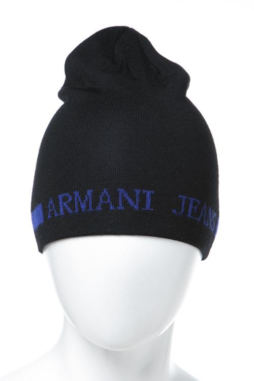アルマーニジーンズ ARMANIJEANS ニットキャップ ニット帽 934112 7A717 ブラック 送料無料 楽ギフ_包装