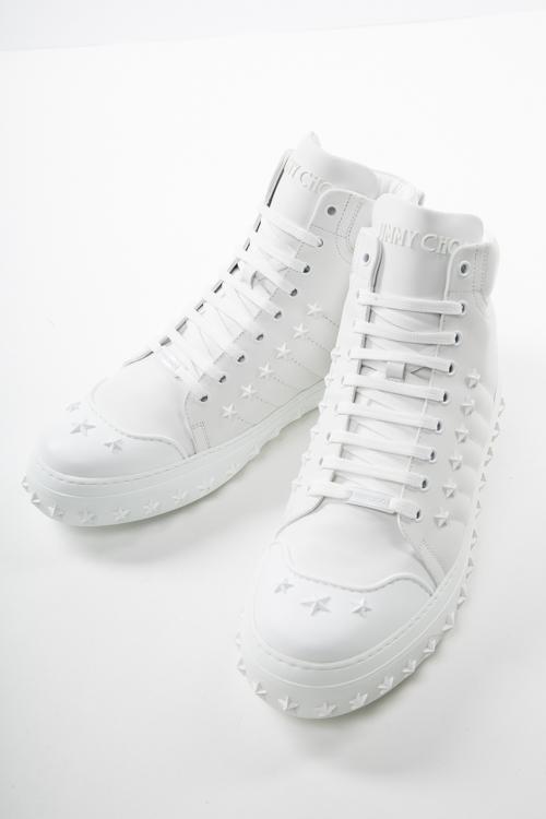 ジミーチュウ JIMMY CHOO スニーカー ハイカット シューズ 靴 メンズ 172 CASSIUS OSA ホワイト 送料無料 2017AW_SALE