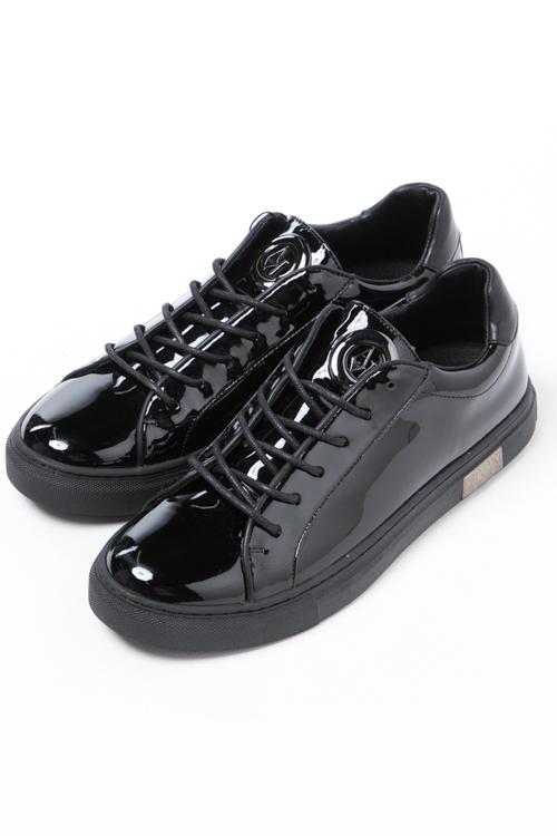 アルマーニ アルマーニジーンズ ARMANI JEANS スニーカー ローカット シューズ 靴 レディース 925307 7A660 ブラック 送料無料