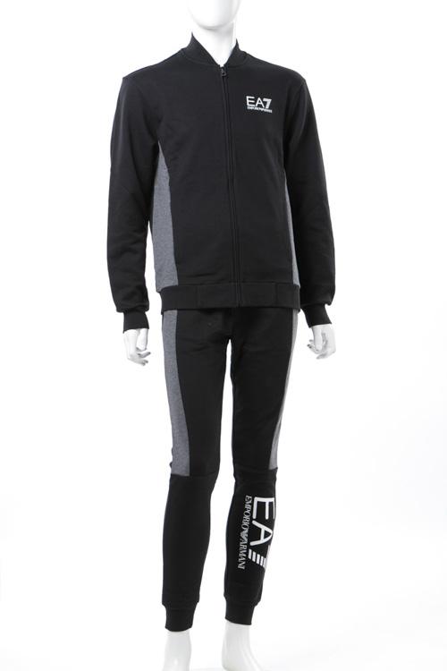 アルマーニ エンポリオアルマーニ Emporio Armani EA7 スーツ スウェット ジャージ セットアップ メンズ 6YPV63 PJ11Z ブラック 送料無料 【ラッキーシール対応】