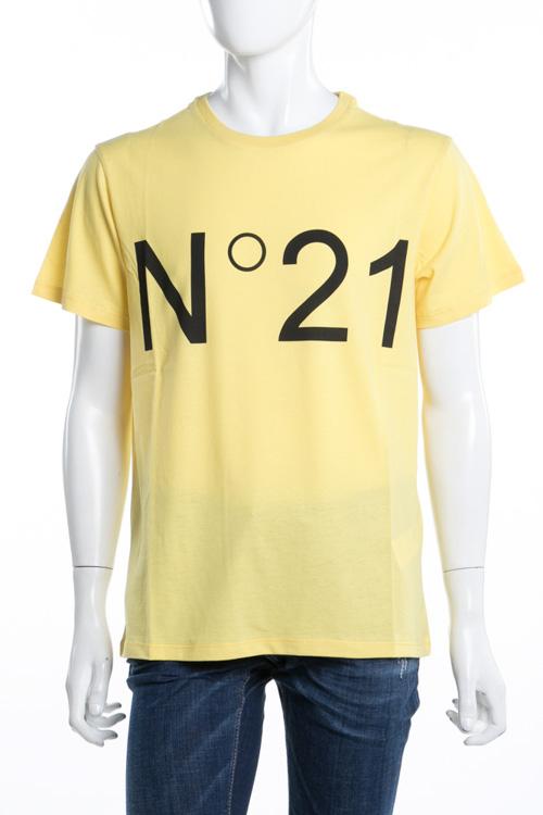 ヌメロヴェントゥーノ N°21 Tシャツ 半袖 丸首 メンズ F021 6363 イエロー 送料無料 楽ギフ_包装 2018年春夏新作 【ラッキーシール対応】
