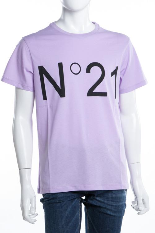 ヌメロヴェントゥーノ N°21 Tシャツ 半袖 丸首 メンズ F021 6363 パープル 送料無料 楽ギフ_包装 2018年春夏新作 【ラッキーシール対応】