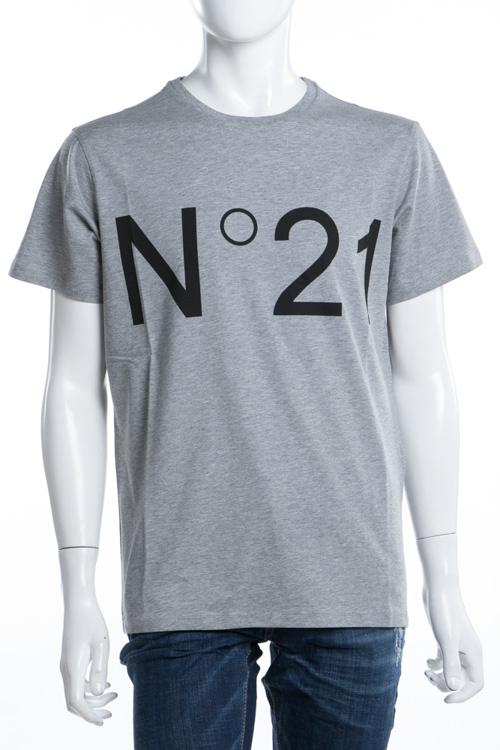 ヌメロヴェントゥーノ N°21 Tシャツ 半袖 丸首 メンズ F021 6363 グレー 送料無料 楽ギフ_包装 【ラッキーシール対応】