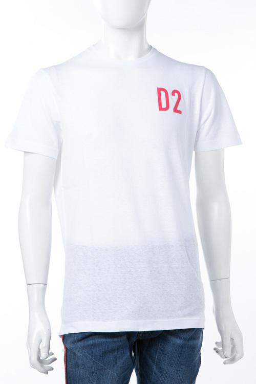 ディースクエアード DSQUARED2 Tシャツ 半袖 丸首 メンズ S74GD0373S22507 ホワイト 送料無料 楽ギフ_包装 2018年春夏新作 2018SS_SALE 【ラッキーシール対応】