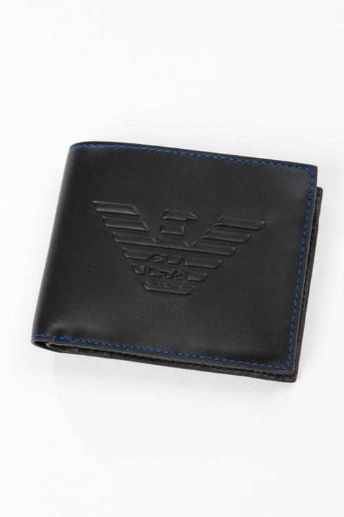 アルマーニ エンポリオアルマーニ Emporio Armani 財布 2つ折り財布 Y4R165 YG90J ブラック 送料無料 楽ギフ_包装