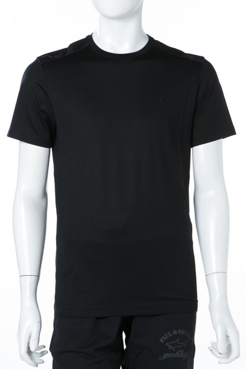 ポールアンドシャーク PAUL&SHARK Tシャツ 半袖 丸首 メンズ E18P1077SF ブラック 送料無料 楽ギフ_包装 2018年春夏新作 【ラッキーシール対応】