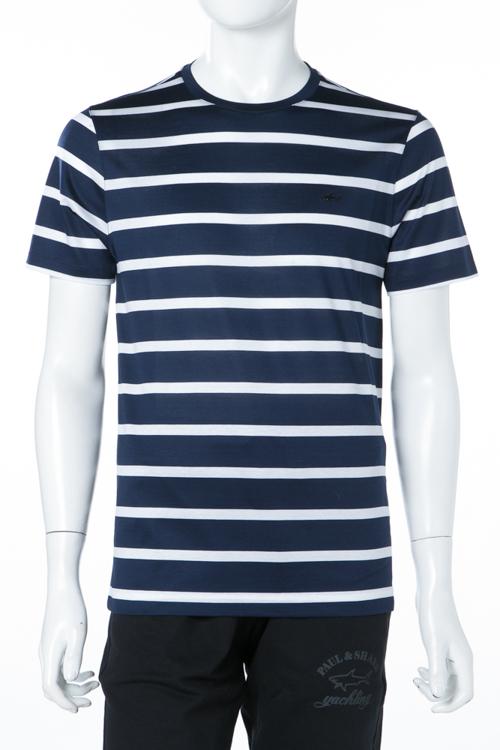 ポールアンドシャーク PAUL&SHARK Tシャツ 半袖 丸首 メンズ E18P1078SF ネイビー 送料無料 楽ギフ_包装 2018年春夏新作 【ラッキーシール対応】
