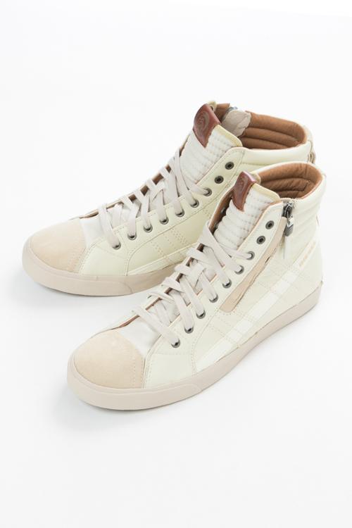 ディーゼル DIESEL スニーカー ハイカット D-VELOWS D-STRING - sneakers メンズ Y00781 PR131 アイボリー 送料無料 【ラッキーシール対応】