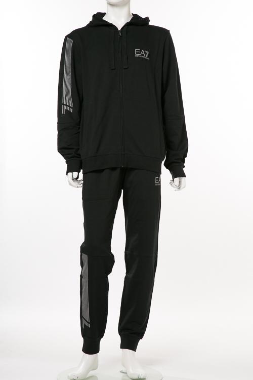 アルマーニ エンポリオアルマーニ Emporio Armani EA7 スーツ セットアップ ジャージ メンズ 3ZPV64 PJ05Z ブラック 送料無料 【ラッキーシール対応】