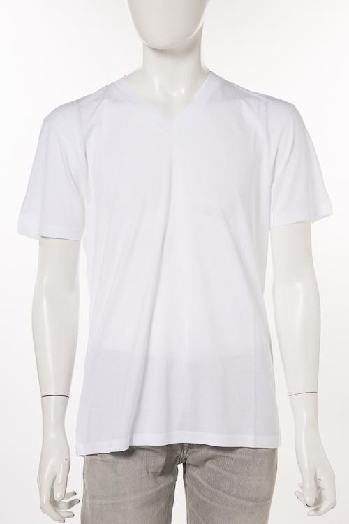 トムフォード TOM FORD Tシャツ 半袖 Vネック メンズ TFJ915 BP229 ホワイト 送料無料 楽ギフ_包装 2018年春夏新作 【ラッキーシール対応】
