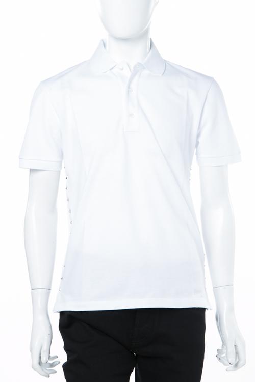 ヴァレンティノ Valentino ポロシャツ 半袖 メンズ PV3MH01E47G ホワイト 送料無料 楽ギフ_包装 2018年春夏新作 【ラッキーシール対応】