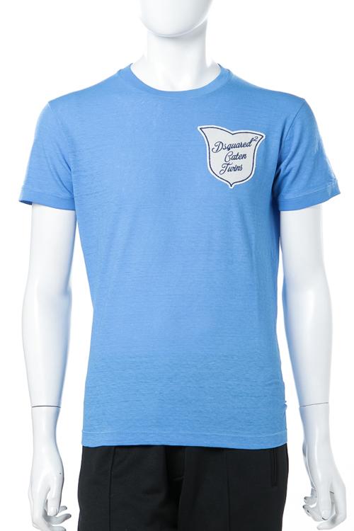 ディースクエアード DSQUARED2 Tシャツ 半袖 丸首 メンズ S71GD0510S22507 ブルー 送料無料 楽ギフ_包装 【ラッキーシール対応】