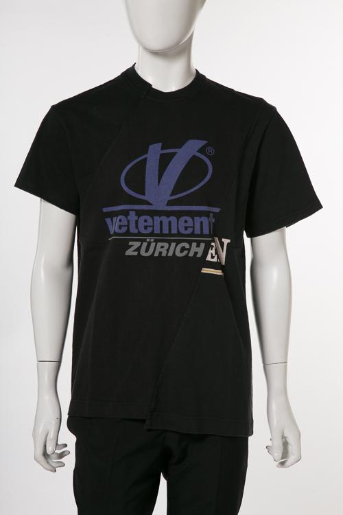 ヴェトモン Vetements Tシャツ 半袖 丸首 メンズ MSS18TR35 ブラック 送料無料 楽ギフ_包装 2018年春夏新作 【ラッキーシール対応】