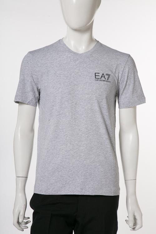 アルマーニ エンポリオアルマーニ Emporio Armani EA7 Tシャツ 半袖 Vネック メンズ 3ZPT53 PJ03Z グレー 送料無料 楽ギフ_包装 【ラッキーシール対応】