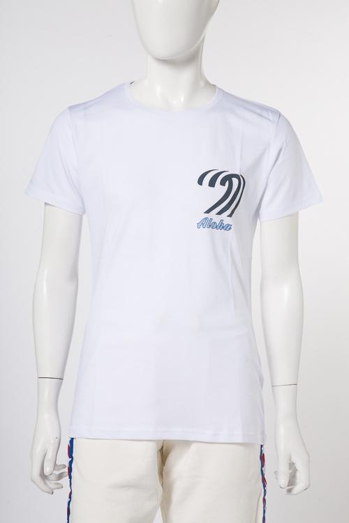 マッキアジェー MACCHIA J Tシャツ 半袖 丸首 ALOHA 00002 メンズ 18SMT 32 T3014 ホワイトA 送料無料 楽ギフ_包装 2018年春夏新作 【ラッキーシール対応】