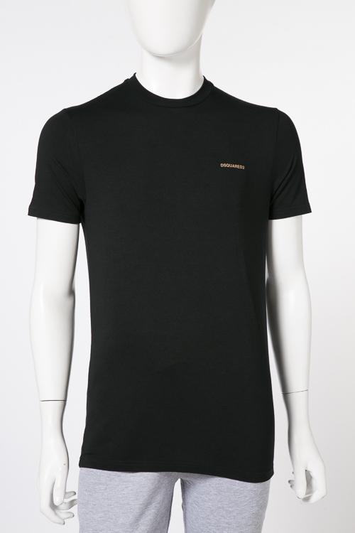 ディースクエアード DSQUARED2 Tシャツアンダーウェア Tシャツ 半袖 丸首 メンズ D9M200910 ブラックA 送料無料 楽ギフ_包装 【ラッキーシール対応】