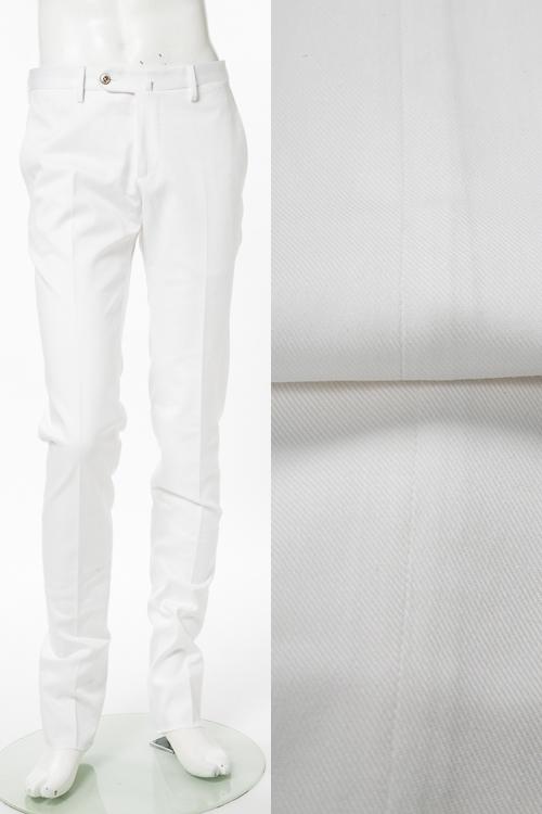 PT01 ピーティーゼロウーノ パンツ スラックス メンズ RIDS01Z VC39 ホワイト 送料無料 楽ギフ_包装 【ラッキーシール対応】