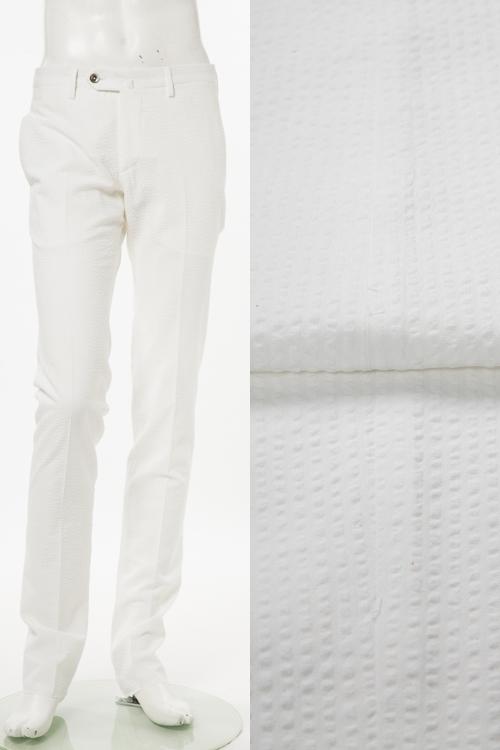 PT01 ピーティーゼロウーノ パンツ スラックス メンズ RIDS01Z BS08 ホワイト 送料無料 楽ギフ_包装 【ラッキーシール対応】