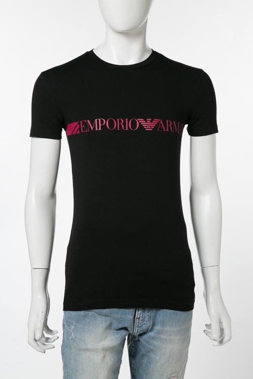 アルマーニ エンポリオアルマーニ Emporio Armani Tシャツアンダーウェア Tシャツ 半袖 丸首 メンズ 111035 8P525 ブラック 送料無料 楽ギフ_包装 【ラッキーシール対応】