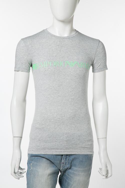 アルマーニ エンポリオアルマーニ Emporio Armani Tシャツアンダーウェア Tシャツ 半袖 丸首 メンズ 111035 8P525 グレー 送料無料 楽ギフ_包装 【ラッキーシール対応】