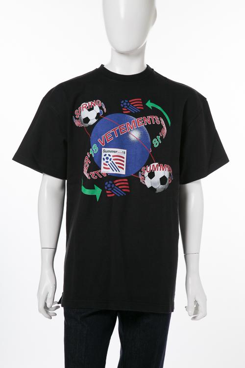 ヴェトモン Vetements Tシャツ 半袖 丸首 メンズ MSS18TR33 ブラック 送料無料 楽ギフ_包装 2018年春夏新作 【ラッキーシール対応】