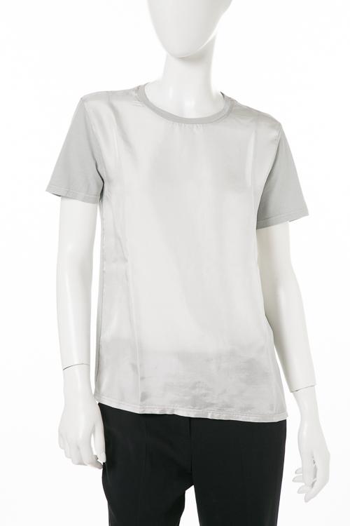 アスペジ ASPESI Tシャツ 半袖 丸首 レディース E7ZZ335 2438FA グレー 送料無料 楽ギフ_包装 【ラッキーシール対応】
