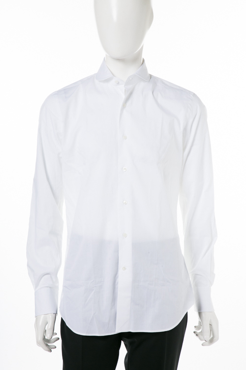 バグッタ BAGUTTA シャツ ワイシャツ 長袖 メンズ B186L 00021 ホワイト 送料無料 楽ギフ_包装 【ラッキーシール対応】