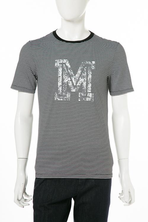 マルタンマルジェラ MARTIN MARGIELA Tシャツ 半袖 丸首 メンズ S50GC0466S22949 ブラック×ホワイト 送料無料 楽ギフ_包装 【ラッキーシール対応】