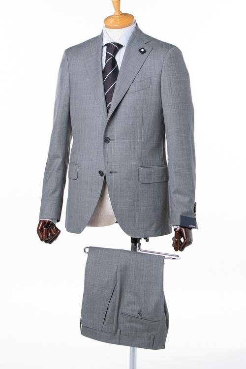 ラルディーニ LARDINI 2ピーススーツ シングル ST IG0423AE IBC47422 メンズ IG0423AE 47422 グレー 送料無料 アウトレット 【ラッキーシール対応】