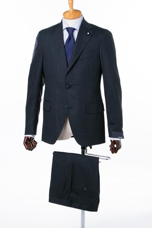 ラルディーニ LARDINI 2ピーススーツ シングル ST 423AE IBRP47497 メンズ IG0423AE 47497 ネイビー 送料無料 アウトレット 【ラッキーシール対応】