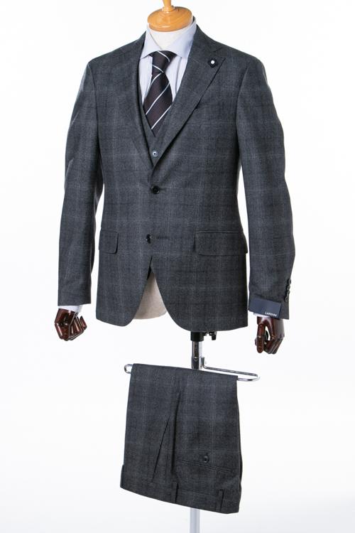 ラルディーニ LARDINI 3ピーススーツ シングル ST 821AE 85712 5140 メンズ IG0821AE 85712 ダークグレイ 送料無料 アウトレット 【ラッキーシール対応】