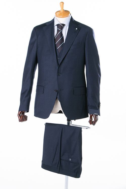ラルディーニ LARDINI 3ピーススーツ シングル ST 821AE IBRP47489 メンズ IG0821AE 47489 ネイビー 送料無料 アウトレット 【ラッキーシール対応】