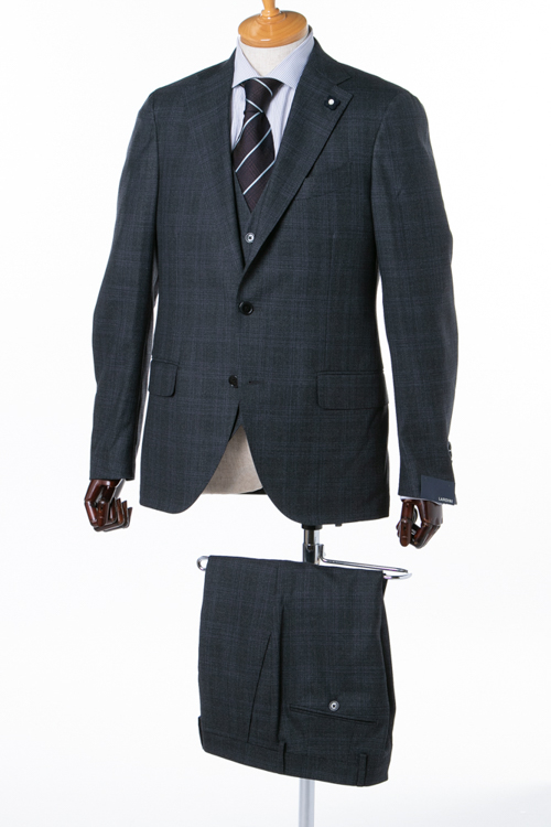 ラルディーニ LARDINI 3ピーススーツ シングル ST IG0821AE 72966 メンズ IG0821AE 72966 ダークグレイ 送料無料 アウトレット 【ラッキーシール対応】