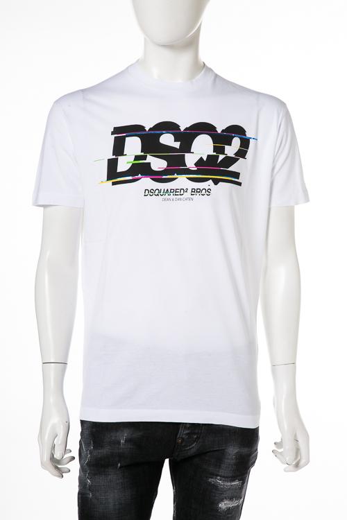 ディースクエアード DSQUARED2 Tシャツ 半袖 丸首 メンズ S74GD0424S22427 ホワイト 送料無料 楽ギフ_包装 2018年秋冬新作 【ラッキーシール対応】