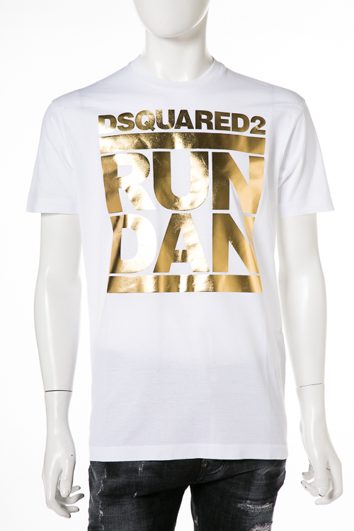 ディースクエアード DSQUARED2 Tシャツ 半袖 丸首 メンズ S74GD0445S22427 ホワイト 送料無料 楽ギフ_包装 2018年秋冬新作 【ラッキーシール対応】
