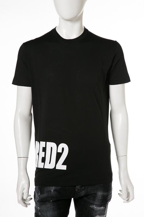 ディースクエアード DSQUARED2 Tシャツ 半袖 丸首 メンズ S74GD0463S22427 ブラック 送料無料 楽ギフ_包装 2018年秋冬新作 【ラッキーシール対応】