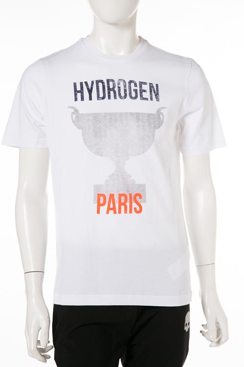 ハイドロゲン HYDROGEN Tシャツ 半袖 丸首 B56 TENNIS メンズ T00092 WH PARIS 送料無料 楽ギフ_包装 2018年秋冬新作 【ラッキーシール対応】