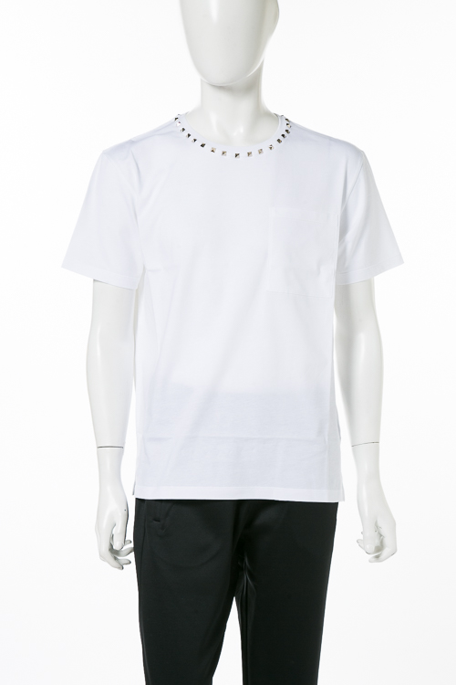 ヴァレンティノ Valentino Tシャツ 半袖 丸首 メンズ QV3MG06S3LE ホワイト 送料無料 楽ギフ_包装 2018年秋冬新作 【ラッキーシール対応】