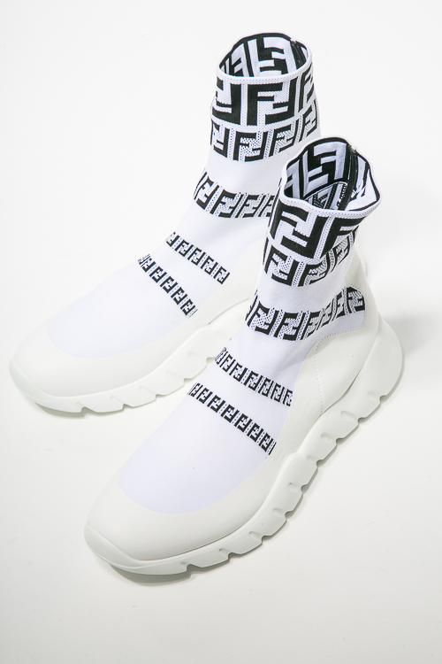 フェンディー FENDI スニーカー ソックススニーカー シューズ 靴 メンズ 7E1163 A3XH ホワイト 送料無料 ラッキーシール対応 2018年秋冬新作