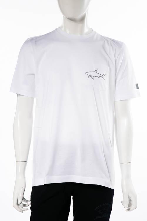 ポールアンドシャーク PAUL&SHARK Tシャツ 半袖 丸首 クルーネック メンズ A18P1679 ホワイト 送料無料 楽ギフ_包装 2018年秋冬新作 【ラッキーシール対応】
