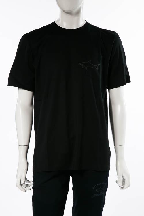 ポールアンドシャーク PAUL&SHARK Tシャツ 半袖 丸首 クルーネック メンズ A18P1679 ブラック 送料無料 楽ギフ_包装 2018年秋冬新作 【ラッキーシール対応】
