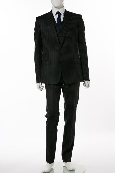 ドルガバ ドルチェ&ガッバーナ DOLCE&GABBANA 3ピーススーツ シングル メンズ G1UKMT FR2TI ダークグレイ 送料無料 【ラッキーシール対応】