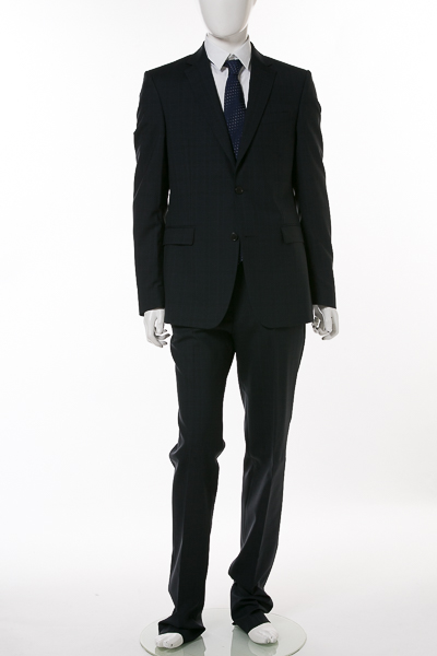 ヴェルサーチコレクション VERSACE COLLECTION 2ピーススーツ シングル V100101S VT01808 メンズ V100101SVT01808 ネイビー 送料無料 【ラッキーシール対応】
