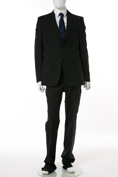 ヴェルサーチコレクション VERSACE COLLECTION 2ピーススーツ シングル V100101S VT01808 メンズ V100101SVT01808 ブラック 送料無料 【ラッキーシール対応】